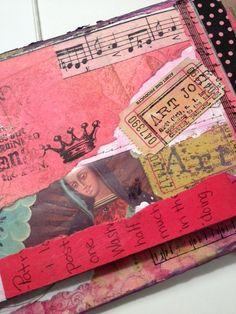 inside art junk journal!