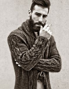 TATTOOED ITALIAN BORN MALE MODEL GIANLUCA DI SOTTO GRACES THE FASHION WORLD WITH A PERFECTLY SCULPTURED BEARD