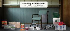 Stocking a Safe Room: Crucial Supplies to Have on Hand. As you stock your safe room make sure to keep these crucial supplies on hand A safe room is a room in your house t. Disaster Preparedness, Survival Prepping, Safe Room Doors, Panic Rooms, Emergency Preparation, Solid Doors, Emergency Supplies, Secret Rooms, In Case Of Emergency