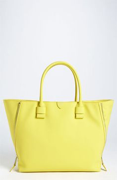 MARC JACOBS 'Sheila' Rubberized Leather Tote available at Nordstrom.if i win the lotto Classic Handbags, Best Handbags, Tote Handbags, Purses And Handbags, Tote Bags, Ysl, Givenchy, Marc Jacobs Tote, Hermes