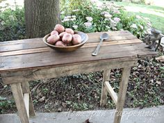 Homespun Happenings: I Made a Rustic Table