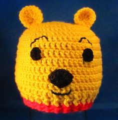 Winnie the Pooh Crocheted Hat -- Made to Order in all sizes