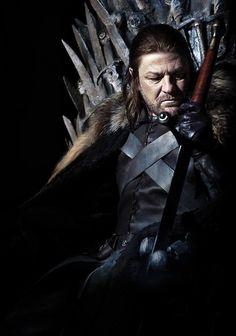 """Game of Thrones Sean Bean as """"Eddard 'Ned' Stark"""" Ned Stark, Eddard Stark, Game Of Thrones Movie, Game Of Thrones Poster, Sir Arthur Dayne, Ramsey Bolton, Saga, Sean Bean, Rare Images"""