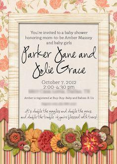 Slightly Askew Designs - Baby Shower Invitation
