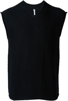 Label Under Construction pleated panel sleeveless jumper
