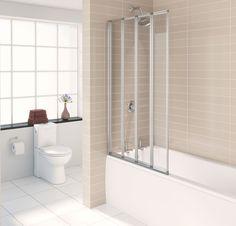 JADE 4 FOLD BATH SCREEN 1400  @ £52.29 only   #Bathscreen #Shoppping  #DIY  #BathroomScreens