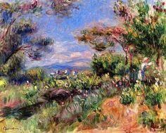 Pierre Auguste Renoir - Giovane donna in un paesaggio a Cagnes
