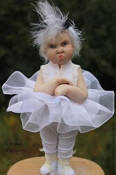 Collectible dolls handmade. Fair Masters Prima ... more hope ... by elena kirilenko***what a face!!