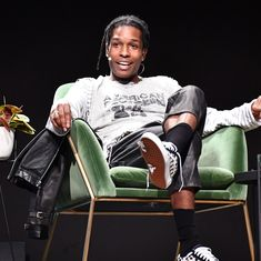 ASAP Rocky was observed speaking to the audience as an invited guest at The me Convention held in Frankfurt, Germany. The NYC hip-hop heavyweight was rocking a very rare Spring/Summer 2002 Raf Simo…