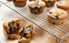The classic blueberry muffin gets an update with spelt flour and a flavor boost from orange juice and zest.