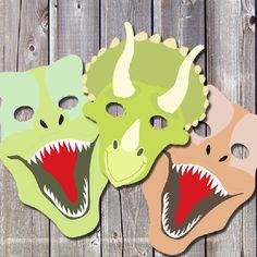 Printable Dinosaur Masks Templates (free is part of Kids Crafts Dinosaurs Awesome Raawr! I'm a Dinosaur! I hope you (and your kids) will have lots of fun playing with these printable dinosaur mask - Dinosaurs Preschool, Dinosaur Activities, Activities For Kids, Dinosaur Crafts Kids, Dinosaur Printables, Vocabulary Activities, Dinosaurs For Kids, Dinasour Crafts, Dinosaur Halloween