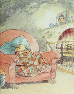 Let's go home, Little Bear. by Barbara Firth Children's Book Illustration, Watercolor Illustration, Kleiner Muck, Pixar, Bear Art, Cute Drawings, Art Reference, Panda, Character Design