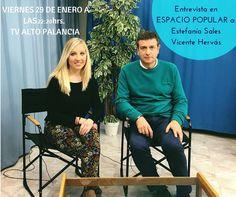 Esta noche a las 22:20 h. #EspacioPopular en TV Alto Palancia entrevista a Estefanía Sales y Vicente Hervás #Segorbe