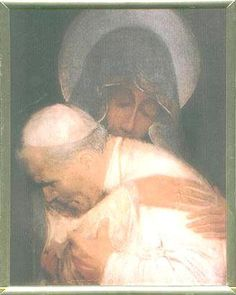 Our Lady of Czestochowa holding Pope John Paul II- this is the most beautiful painting I have ever seen.