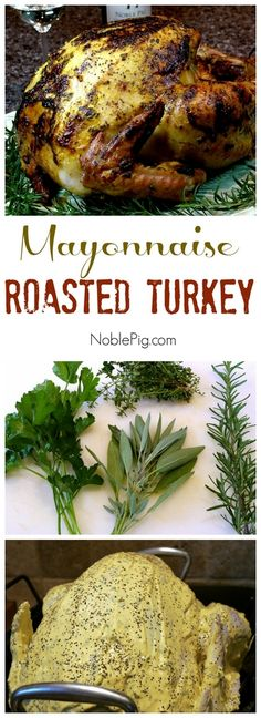 Roasted Turkey from . If you cook your turkey in an oven, I highly recommend this method.Mayonnaise Roasted Turkey from . If you cook your turkey in an oven, I highly recommend this method. Turkey Dishes, Turkey Recipes, Chicken Recipes, Thanksgiving Recipes, Holiday Recipes, Thanksgiving Turkey, Fun Easy Recipes, Delicious Recipes, Top Recipes