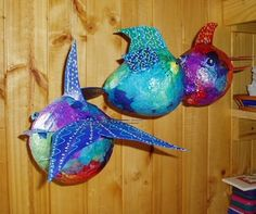 Geree's Blog from Pichilemu, Chile: Free Papier Mache Fish Booklet!