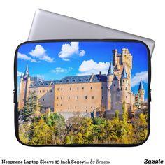 Shop Neoprene Laptop Sleeve 15 inch Segovia castle created by Brasov.