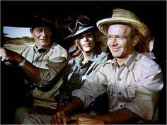 "John Wayne, Elsa Martinelli in ""Hatari"" (Howard Hawks, 1962)"