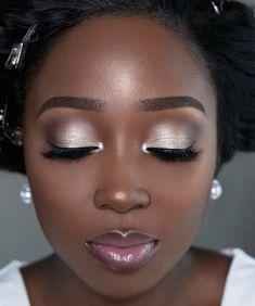 Black Girl Makeup, Girls Makeup, Glam Makeup, Beauty Makeup, Eye Makeup, Wedding Makeup For Brown Eyes, Bridal Makeup Looks, Wedding Hair And Makeup, Wedding Beauty