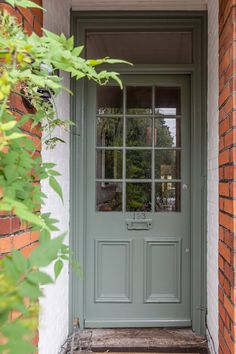 Diana & Dominic's Art-filled Victorian - love this paint color (Farrow and Ball's Smoke Green)