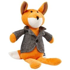 """Sure to become baby's favourite bedtime buddy, this plush fox is irresistibly squeezable. Dressed in a smart herringbone coat over his silky, smooth fur - it's impossible not to fall for this adorable woodland friend. 17"""" tall."""