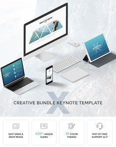 Bundle Modern & Creative Keynote Template - Keynote Creative Presentation Template by Nice_Themes. Creative Powerpoint Templates, Presentation Templates, Presentation Slides, Presentation Design, Keynote Template, Link, Web Design, Design Ideas