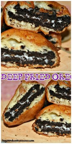 Deep Fried Oreos l Who needs to wait for the fair to enjoy deep fried treats! Bring the fair home! oil for frying 1 egg 1 cup milk 2 teaspoons oil 1 cups… Fried Oreos Recipe, Deep Fried Oreos, Just Desserts, Delicious Desserts, Yummy Food, Deep Fried Desserts, Yummy Treats, Sweet Treats, Cookie Recipes