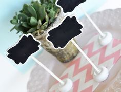 Framed Chalkboard Place Card Stands | Party Supplies | Ella Gent - 1