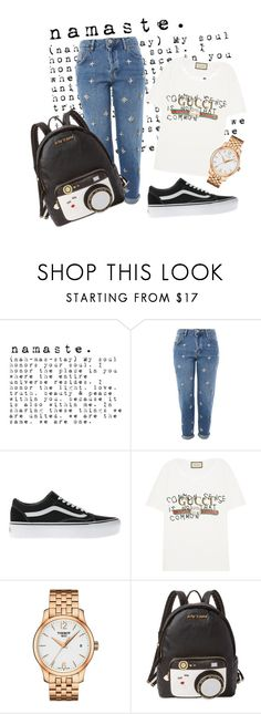 """""""xx"""" by pauloskompanieros on Polyvore featuring Topshop, Vans, Gucci, Tissot and Betsey Johnson"""