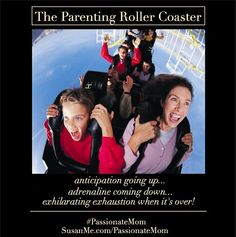 The parenting roller coaster -- it's the ride of your life!