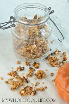 Pumpkin Spice Granola. Get into the spirit of Fall with this healthy breakfast recipe.