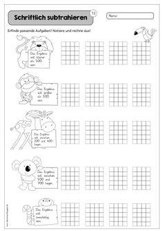 """Weitere Blätter für die Übungsreihe Ich habe noch einen kleinen Nachschlag für die Übungsreihe """"Schriftlich subtrahieren"""" erstellt. Die ..."""