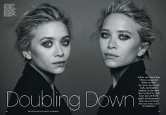 Ashley and Mary-Kate Olsen Allure US, December 2013