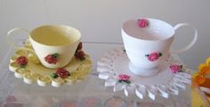 Quilled teacups