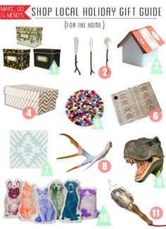 Shop Local Gift Guide (for the Home) - 2013