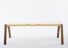 Twin Bench is a minimalist design created by Italy-based designer Andrea Rekalidis. In the main configution the central barycentre obliges anyone who sits to cooperate with a partner to serve as a counterweight on the opposite side, the front view evokes the icon of the scale, a symbol of fairness and equality. In the others configurations Twin bench can turn into a swinging bench by adding the tracks or in a standard bench by moving the trestles at the opposite side, a dynamic object made…