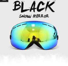 Classical Black Ski Goggles