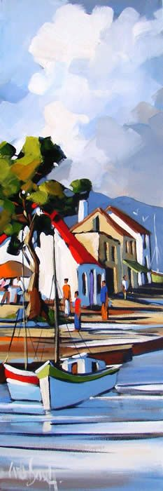 Artwork of Carla Bosch exhibited at Robertson Art Gallery. Original art of more than 60 top South African Artists - Since South African Artists, Fauvism, Landscape Artwork, Impressionist Art, Tropical Art, Cool Paintings, Cityscapes, Art Techniques, Acrylics