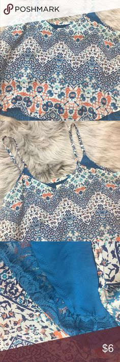 Aztec printed loose blouse 💙 Blue Aztec/flowers print loose blouse. Great with jeans, short and leggings etc. Only worn once. It is in perfect conditions, colors still standing strong lol as shown in pictures. Any further questions about this product do not hesitate to ask! 💕 No Boundaries Tops Blouses