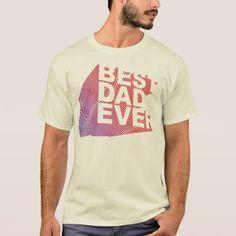 Best Dad Ever 3D Pattern T-Shirt - parenting parents kid children mom dad family