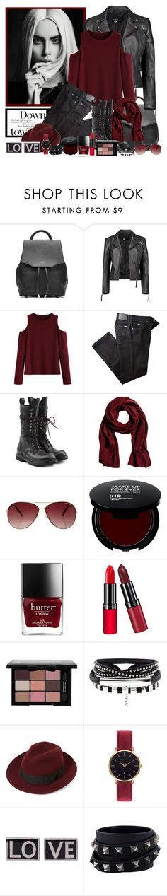"""""""Untitled #2188"""" by zanet ❤ liked on Polyvore featuring rag & bone, Boohoo, BRAX, Rick Owens, MINKPINK, Rimmel, Christys', Abbott Lyon, Givenchy and Valentino"""