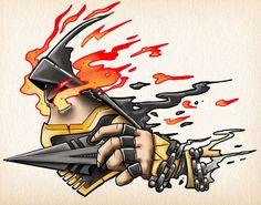 Scorpion – Mortal Kombat, Tattoo Design - Geek World Scorpion Mortal Kombat, Mortal Kombat Tattoo, Mortal Kombat Art, Comics Anime, Marvel Comics, Character Art, Character Design, Gaming Tattoo, Dope Wallpapers