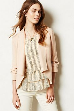 Ruched Sleeve Blazer #anthropologie