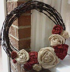 Barbed wire DIY wreath