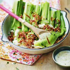 Salade de poireaux et pancetta avec Amora®