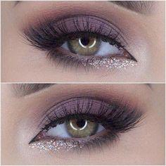 Makeup Tutorial soft maybe purple smokey eye with glitter lower lash line #eyemakeupsmokey #EyeMakeupGlitter Leave In, Eyeliner Hacks, Eye Makeup Tips, Smokey Eye Makeup, Makeup Ideas, Makeup Dupes, Makeup Brands, Eyeshadow Makeup, Makeup Art