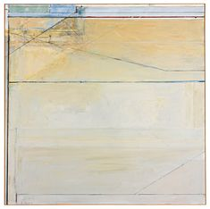 RICHARD DIEBENKORN 1922 - 1993 OCEAN PARK #89, signed with initials and dated 75; signed, titled and dated 1975 on the reverse, oil on canvas, 81 by 81 in. Executed in 1975.
