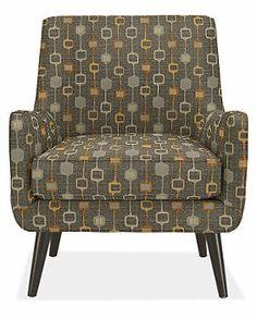 LIVING ROOM CHAIR:  Quinn Chair & Ottoman in TIVO Fabric - Chairs - Living - Room & Board