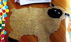 Amor por Art em Crochê: Tapete Infantil em Formato de Ovelha