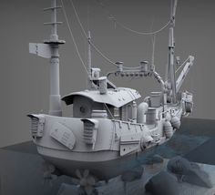 Ship by Yehor Gallagher | Transport | 3D | CGSociety